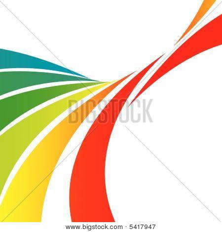 Twisted Rainbow Swooshes