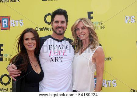 LOS ANGELES - NOV 17:  Rosa Blasi, Don Diamont, Cindy Ambuehl at the P.S. Arts Express Yourself 2013 at Barker Hanger on November 17, 2013 in Santa Monica, CA