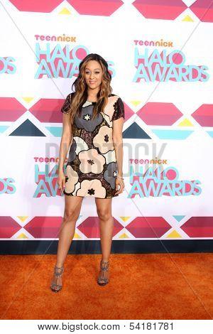 LOS ANGELES - NOV 17:  Tia Mowry-Hardrict at the TeenNick Halo Awards at Hollywood Palladium on November 17, 2013 in Los Angeles, CA
