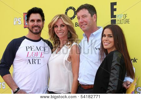 LOS ANGELES - NOV 17:  Don Diamont, Cindy Ambuehl, guest, Rosa Blasi at the P.S. Arts Express Yourself 2013 at Barker Hanger on November 17, 2013 in Santa Monica, CA