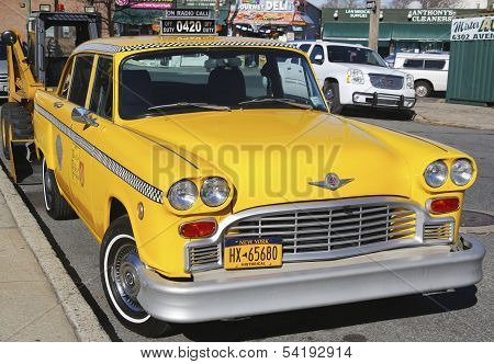 Checker Taxi Cab produced by the Checker Motors Corporation in Brooklyn