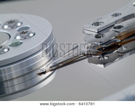 Hard Drive Angled Platter And Head In Front