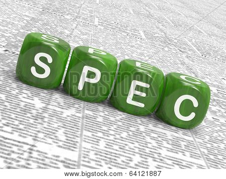 Spec Dice Show Blueprint Stipulation And Particulars