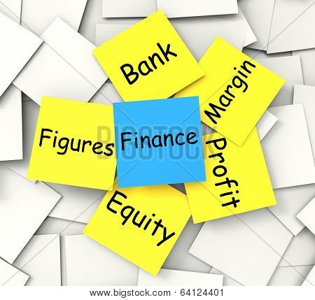 Finance Note Shows Equity Profit And Figures
