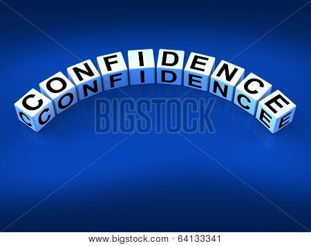 Confidence Dice Mean Believe In Yourself And Certainty