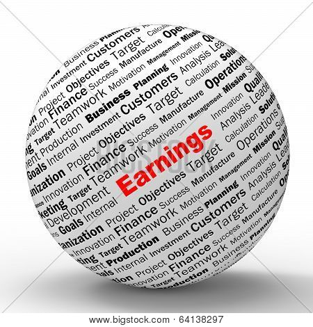 Earnings Sphere Definition Shows Lucrative Incomes Or Profits