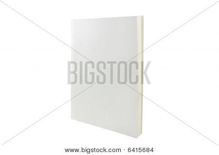 White blank brochure