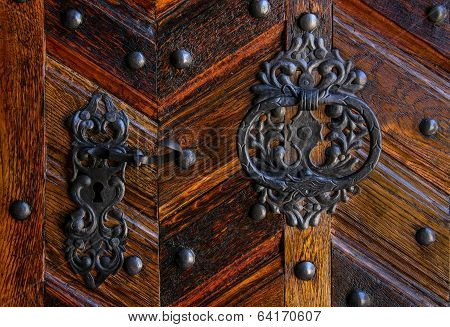 Old World - Door Handle and Knocker