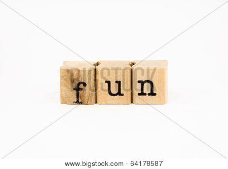 Fun Wording Isolate On White Background