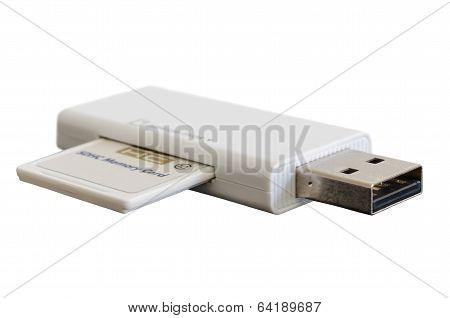 Usb Adapter With Sdhc Memory Flash Card