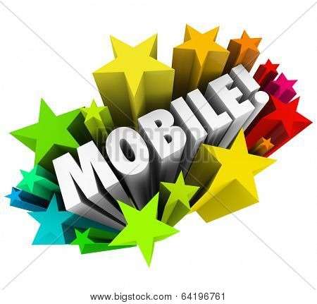 Mobile Word Stars Mobility Wireless Technology Tools