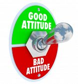 Good vs Bad Attitude Words Toggle Switch Change Mood Positive poster