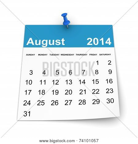 Calendar 2014 - August