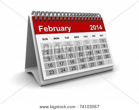 Calendar 2014 - February