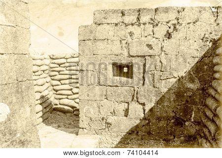 Bunker pillbox great world war 1 flanders belgium poster
