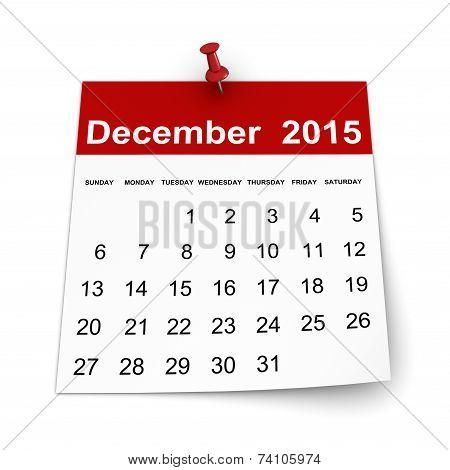 Calendar 2015 - December