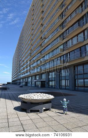 Apartments On A Seafront Promenade In Oostende