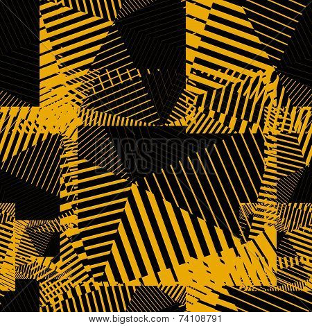 Contrast creative continuous lines pattern, colorful motif abstract striped background. poster