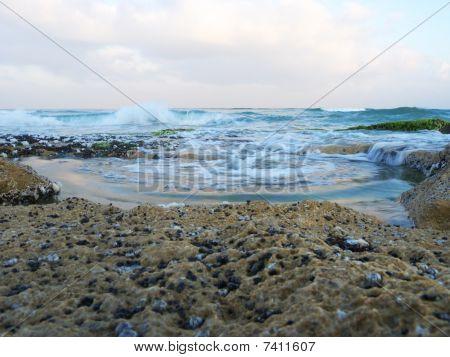 Pond between the rocks