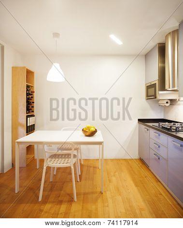 Beautiful modern apartment, kitchen view