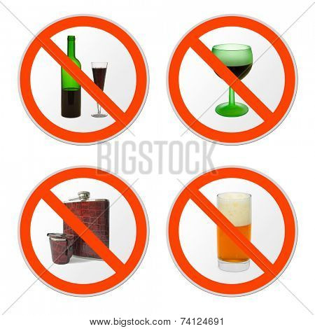 Collection of signs, isolated on white background