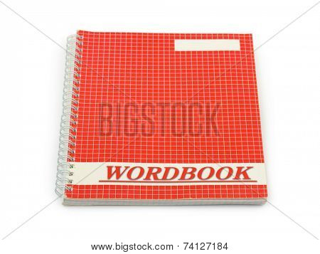 School wordbook isolated on white background