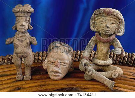Antique Pre Columbian Figures
