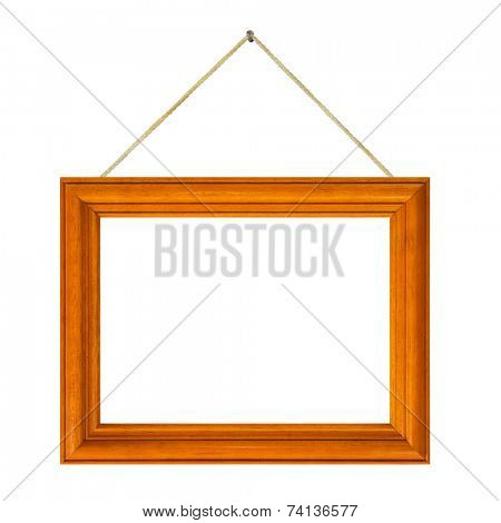 Frame and string isolated on white background
