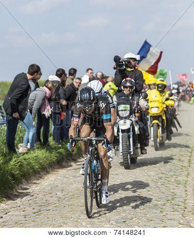 The Cyclist Geraint Thomas - Paris Roubaix 2014