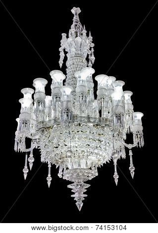 Retro chandelier - isolated on black background