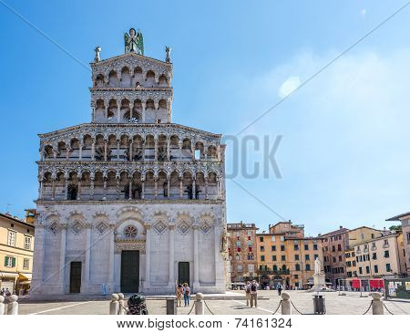 Facade Church San Michele In Foro In Lucca