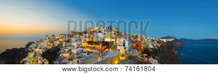 Santorini sunset (Oia) - Greece vacation background