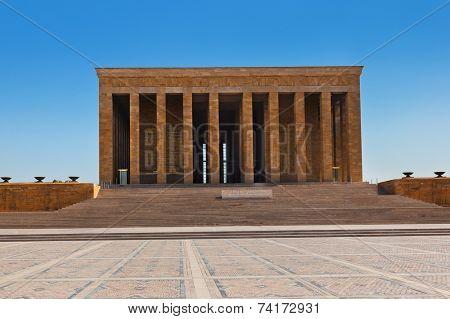 Mustafa Kemal Ataturk mausoleum at Ankara Turkey poster