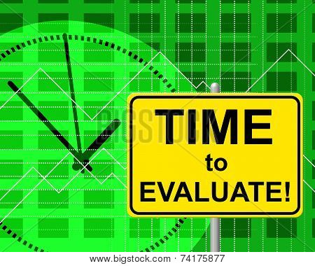 Time To Evaluate Represents Just Now And Assessing