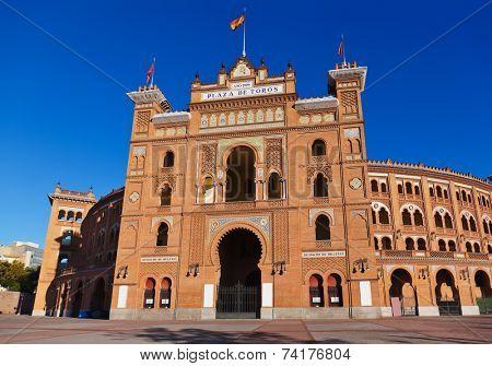 Famous bullfighting corrida arena in Ventas Plaza - Madrid Spain