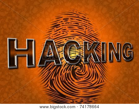 Internet Hacking Represents World Wide Web And Attack