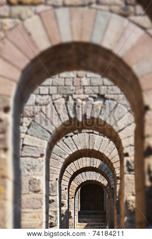 Galery in ancient city of Pergamon - Turkey