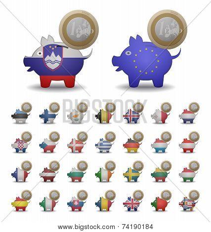 Set Save Euro Coins