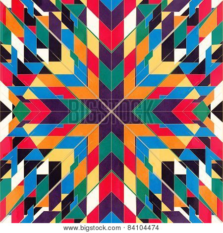 Triangles seamless abstract tribal pattern