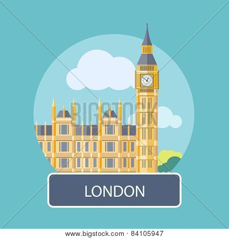 Big Ben and Westminster Bridge , London, UK