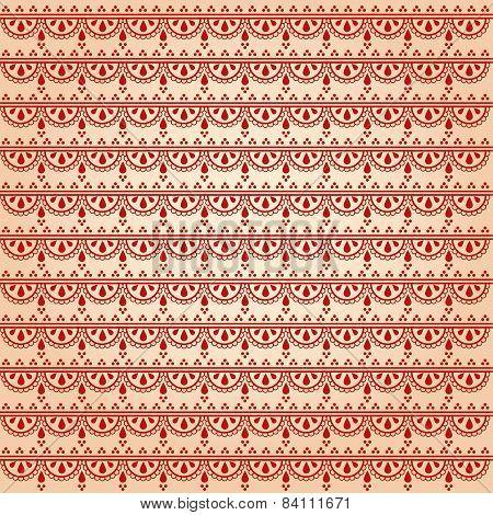 Indian henna pattern background