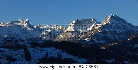 High Mountains Uri Rotstock, Schwalmis And Brisen