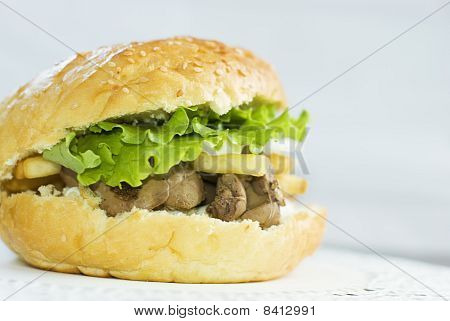 Big Burger With Liver
