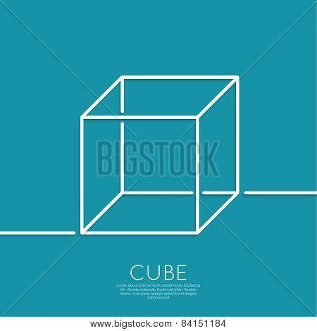 cube on a blue background
