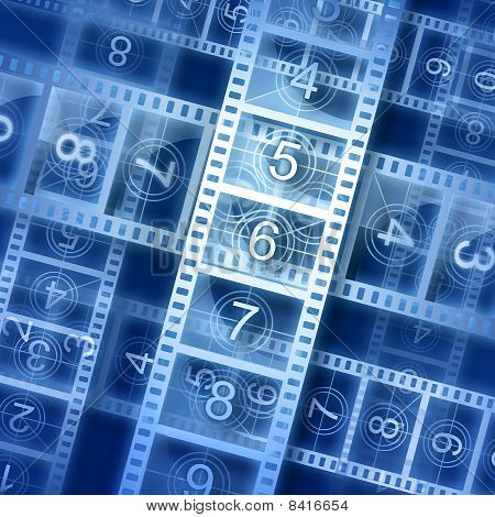 Film Strip Background. Hi-resolution Illustration.