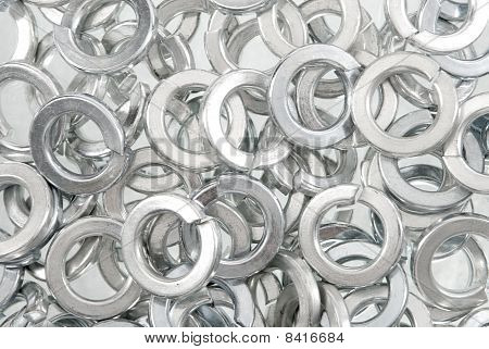 Lock washers background