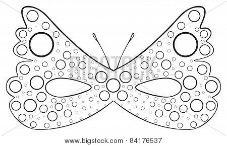 Happy Holiday - Mask Of Dotted Butterfly