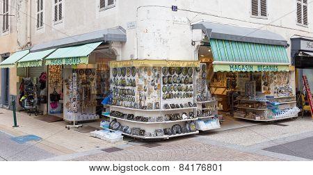 Typical Souvenir Shop As Found In Lourdes