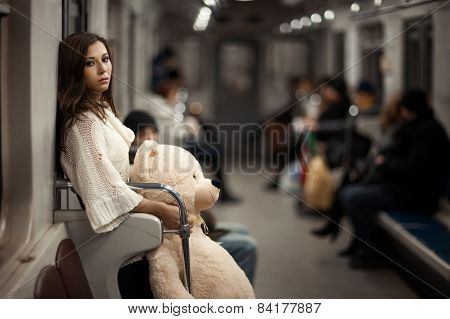 Sad Girl In The Subway.