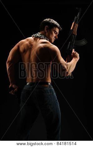 muscular soldier